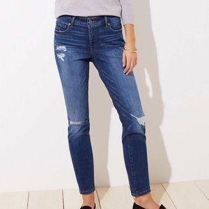 LOFT Modern Skinny Distressed Jeans